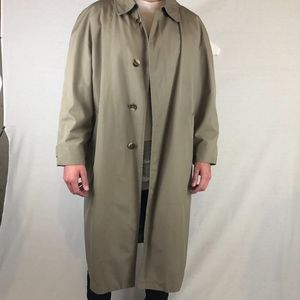 BROOKS BROTHERS Khaki Trench Coat w/ Liner -44R